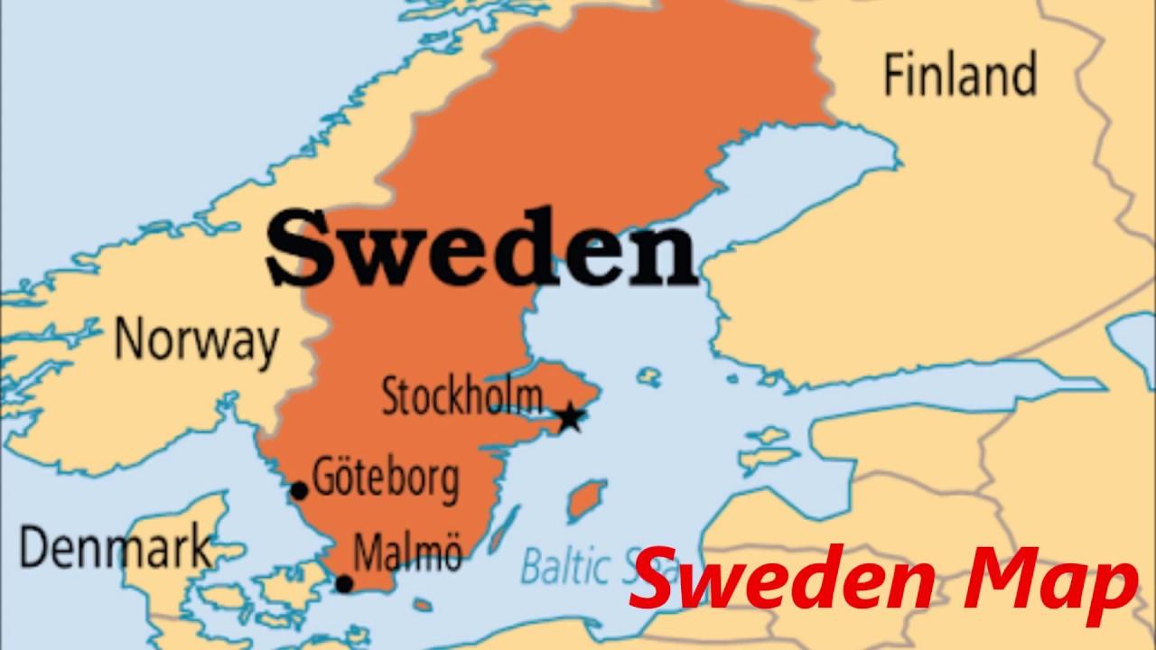 خريطة السويد وأبرز السمات الجغرافية للبلاد