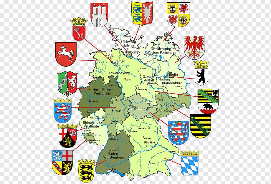 خريطة مقاطعات المانيا