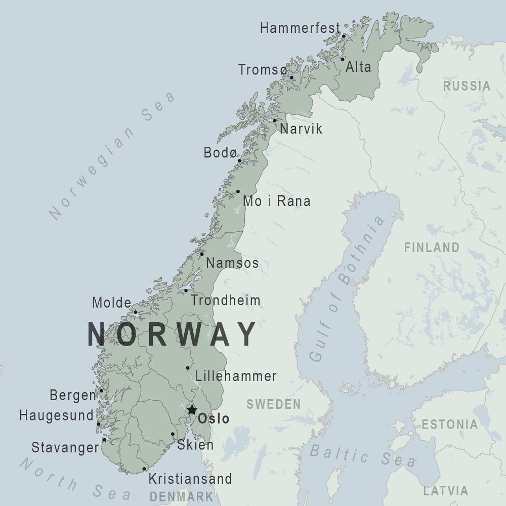 مساحة النرويج