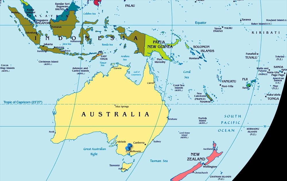 خريطة استراليا